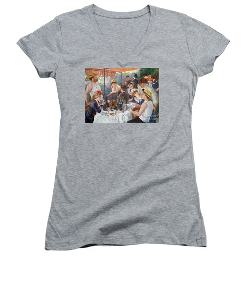 The Luncheon Of The Boating Party Women's V-Neck