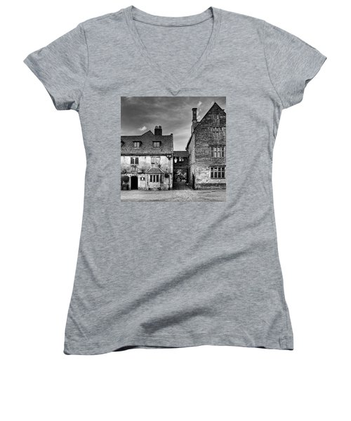 The Lygon Arms, Broadway Women's V-Neck T-Shirt (Junior Cut) by John Edwards