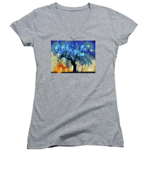The Magic Blue Faraway Tree Women's V-Neck