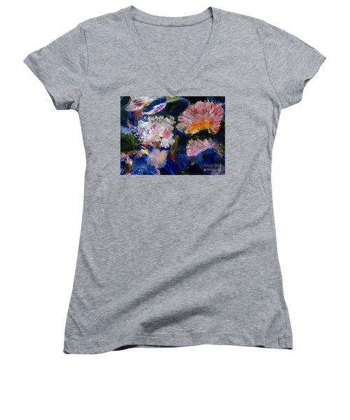 The Magic Of Flowers Women's V-Neck T-Shirt