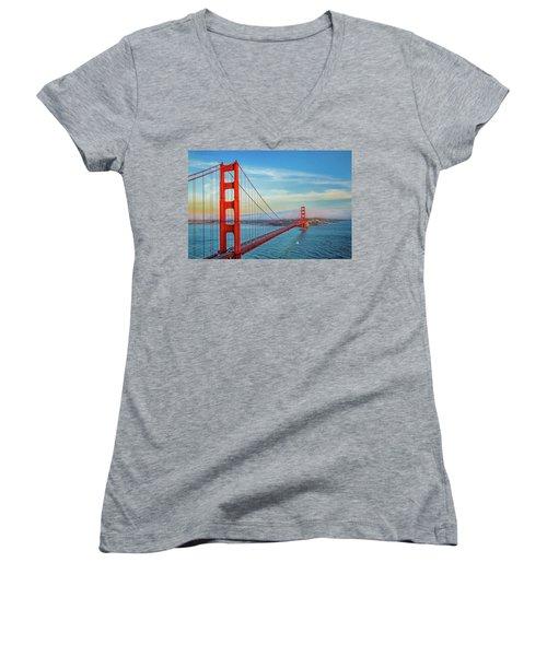 The Majestic Women's V-Neck T-Shirt (Junior Cut) by Az Jackson