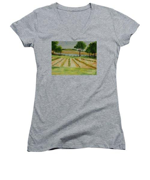 The Mangan Farm  Women's V-Neck (Athletic Fit)
