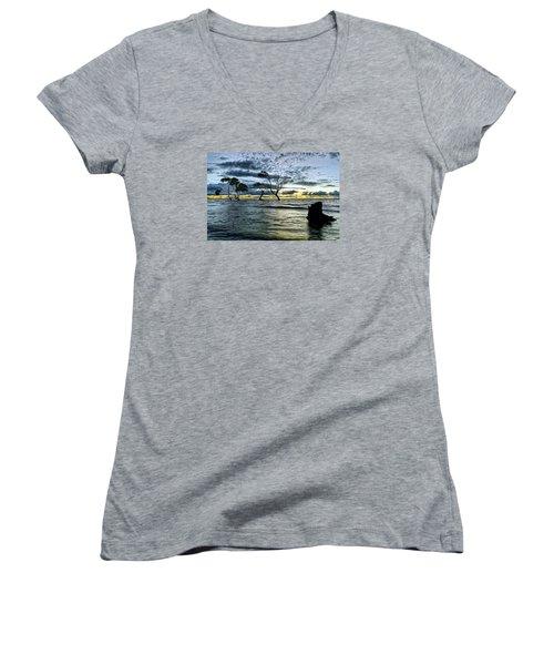 The Mangrove Trees Women's V-Neck T-Shirt