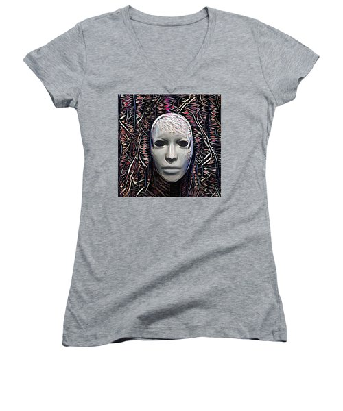 The Mask Women's V-Neck (Athletic Fit)