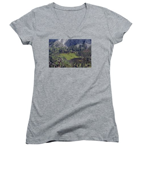 The Meadow From Four Mile Trail Women's V-Neck T-Shirt