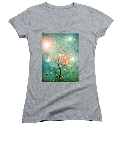 The Memory Of Dreams Women's V-Neck T-Shirt (Junior Cut)