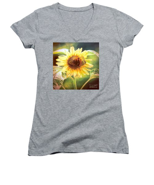 The Merge Women's V-Neck T-Shirt (Junior Cut) by Tina LeCour