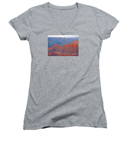 The Mighty Grand Canyon Women's V-Neck T-Shirt (Junior Cut) by Nick  Boren