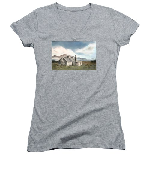 The Mist Of Moorland Women's V-Neck T-Shirt