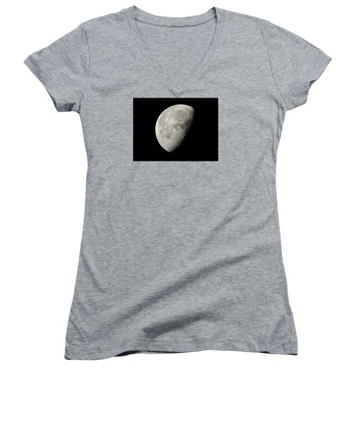 The Moon Women's V-Neck T-Shirt