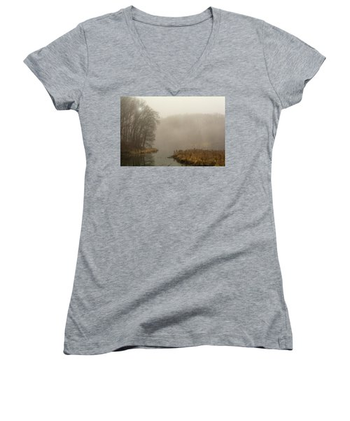 The Morning After Women's V-Neck T-Shirt (Junior Cut) by Angelo Marcialis