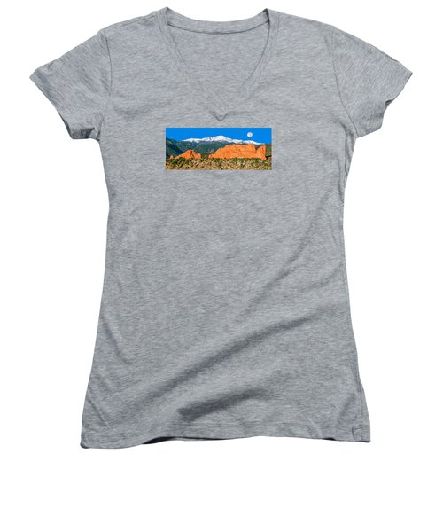 The Most Popular City Park In The U.s. Women's V-Neck T-Shirt (Junior Cut) by Bijan Pirnia