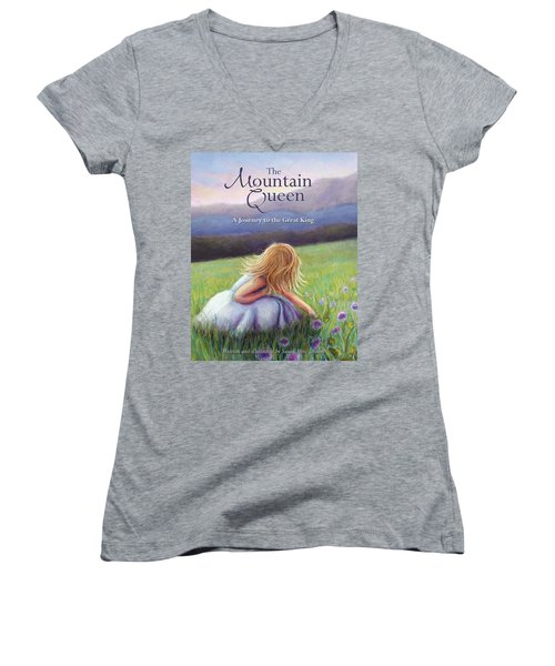 The Mountain Queen Book Cover Women's V-Neck
