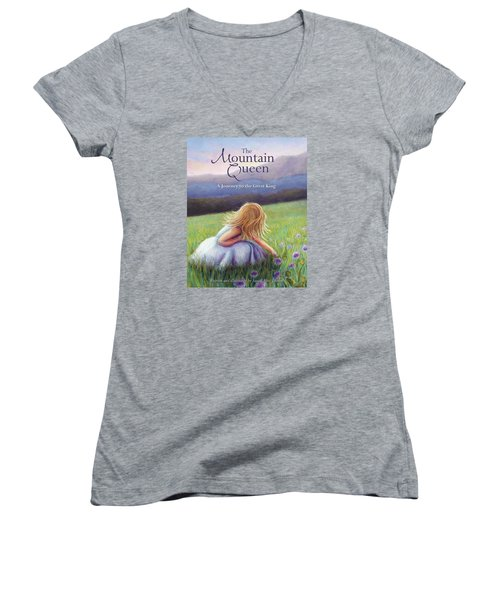 The Mountain Queen Book Cover Women's V-Neck (Athletic Fit)