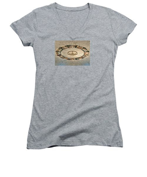Women's V-Neck T-Shirt (Junior Cut) featuring the photograph The Mural by Mark Dodd