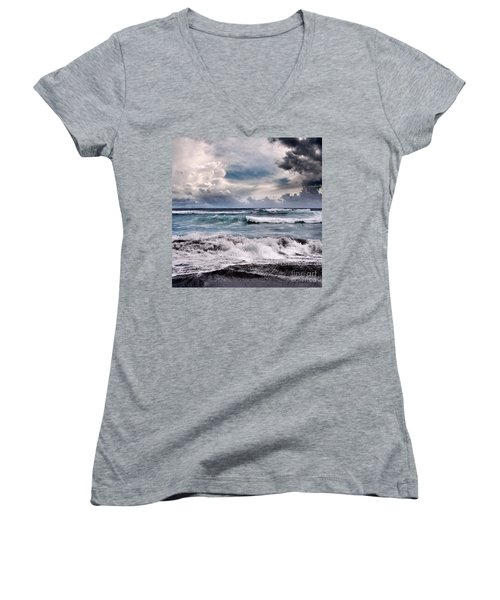 The Music Of Light Women's V-Neck T-Shirt (Junior Cut) by Sharon Mau
