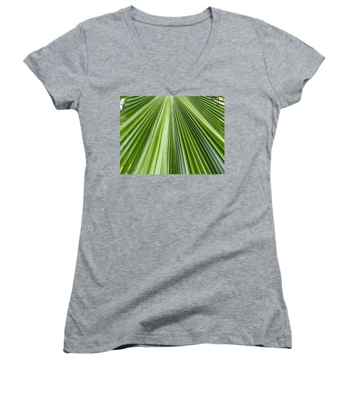 The Nature Of My Abstraction Women's V-Neck T-Shirt (Junior Cut) by Russell Keating