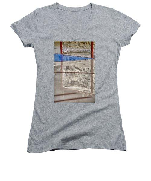 The Net Reflection Women's V-Neck T-Shirt (Junior Cut)