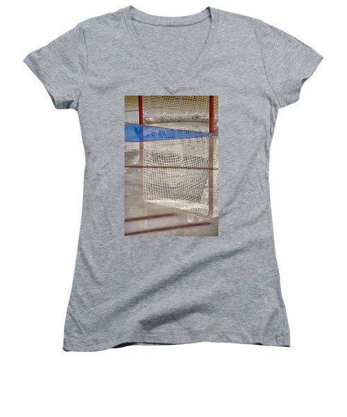 The Net Reflection Women's V-Neck T-Shirt (Junior Cut) by Karol Livote
