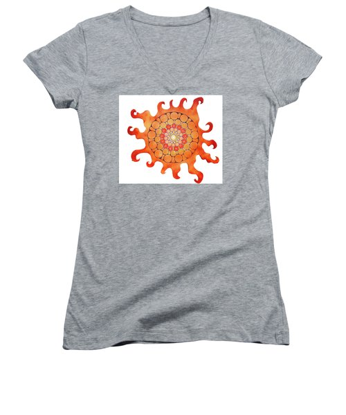 The New Sun Women's V-Neck T-Shirt (Junior Cut) by Patricia Arroyo