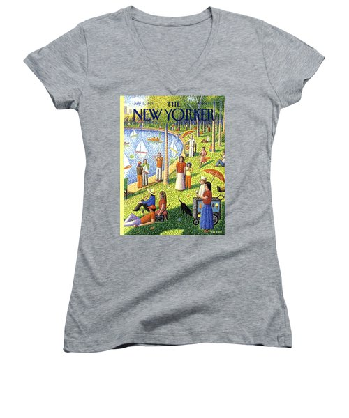 The New Yorker July 15th, 1991 Women's V-Neck