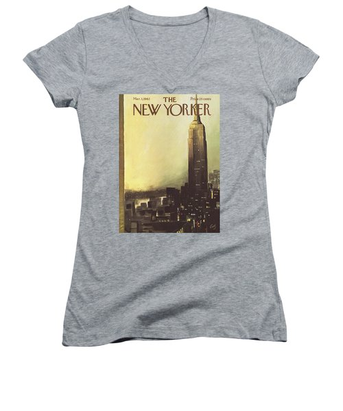 The New Yorker Cover - March 3rd, 1962 Women's V-Neck T-Shirt