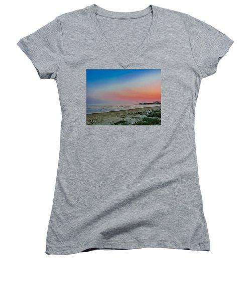 The Night Before Rita Women's V-Neck T-Shirt (Junior Cut) by Karen Musick