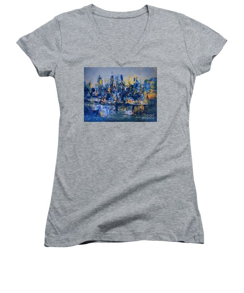 The Night City Women's V-Neck (Athletic Fit)