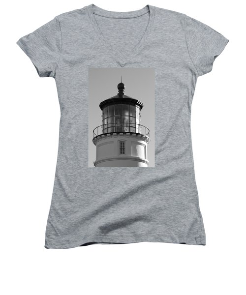Women's V-Neck T-Shirt (Junior Cut) featuring the photograph The Night Light by Laddie Halupa