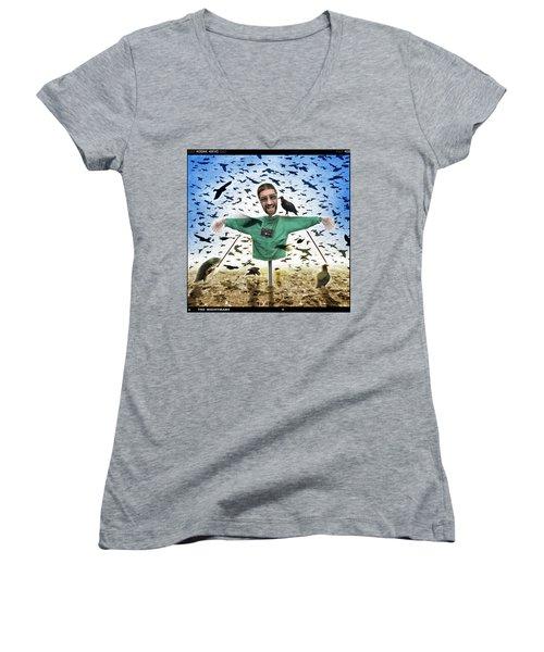 The Nightmare 2 Women's V-Neck T-Shirt (Junior Cut) by Mike McGlothlen
