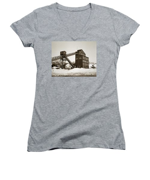 The Northwest Coal Company Breaker Eynon Pennsylvania 1971 Women's V-Neck (Athletic Fit)