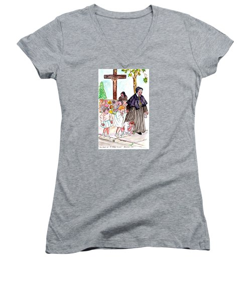 The Nuns Of St Mary's Church Women's V-Neck (Athletic Fit)