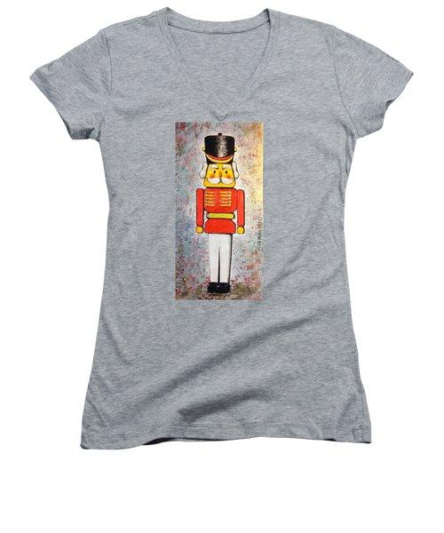 The Nutcracker Women's V-Neck T-Shirt (Junior Cut) by Victor Minca