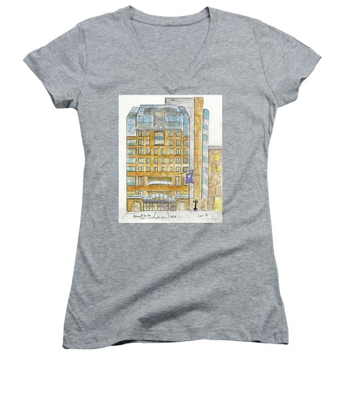 The Nyu Kimmel Student Center Women's V-Neck (Athletic Fit)