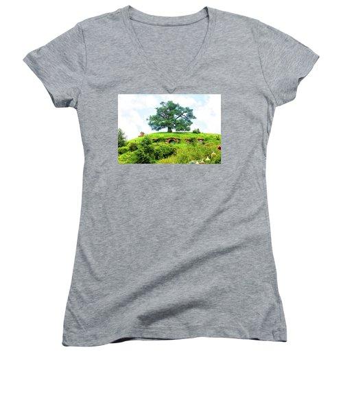 The Oak Tree At Bag End Women's V-Neck