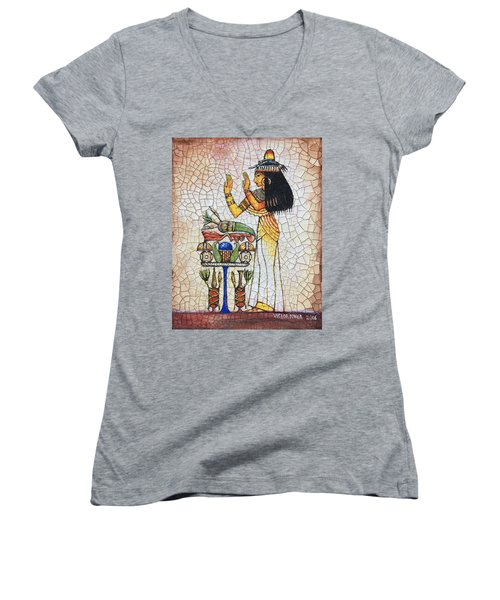 The Offering Women's V-Neck T-Shirt (Junior Cut) by Victor Minca
