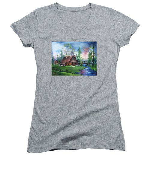 The Old Barn Women's V-Neck (Athletic Fit)