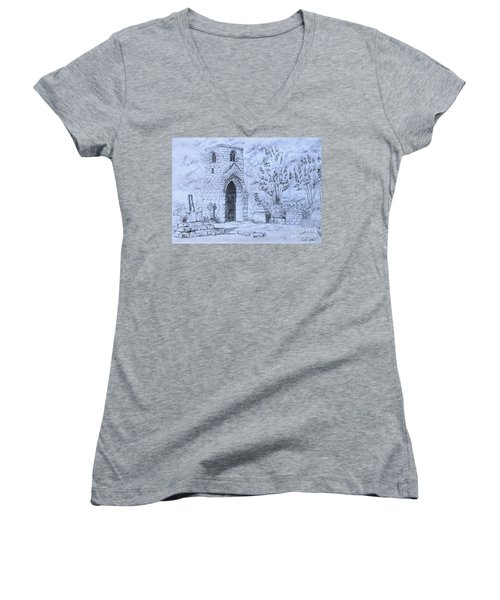 The Old Chantry Women's V-Neck T-Shirt