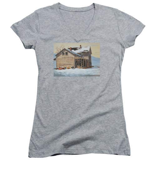 the Old Farm House Women's V-Neck (Athletic Fit)