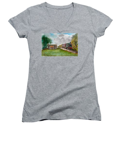 The Old Forsaken Shack Women's V-Neck (Athletic Fit)
