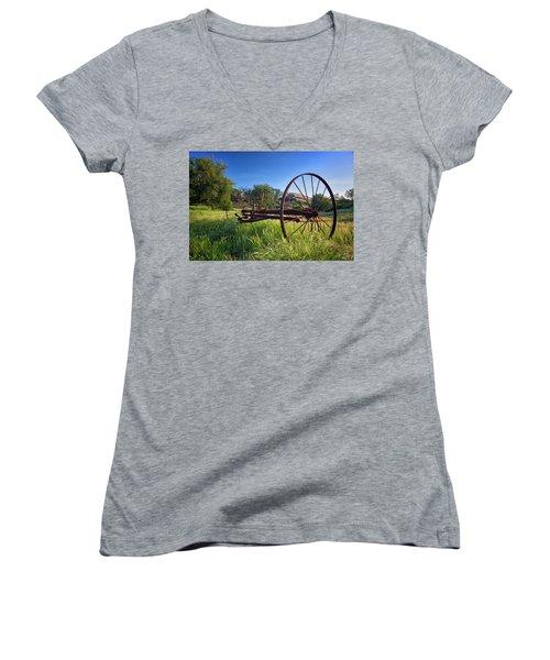 The Old Mower 2 Women's V-Neck T-Shirt