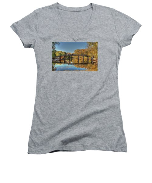 The Old North Bridge Women's V-Neck (Athletic Fit)