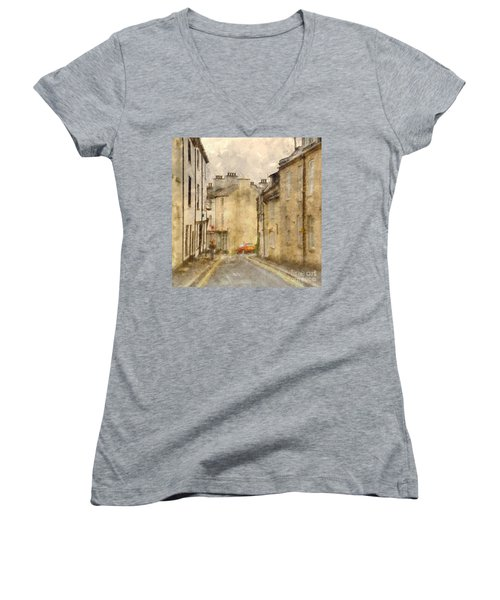 The Old Part Of Town Women's V-Neck T-Shirt