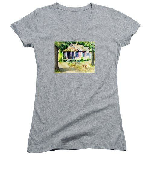 The Old Place Women's V-Neck (Athletic Fit)