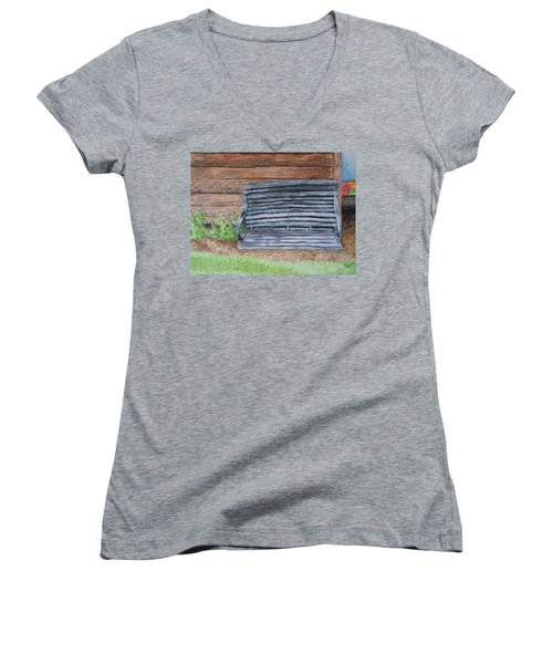 The Old Porch Swing Women's V-Neck (Athletic Fit)