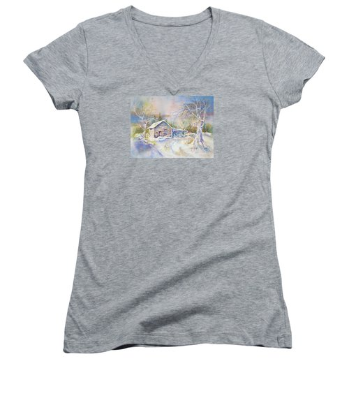 The Old Shed Women's V-Neck T-Shirt