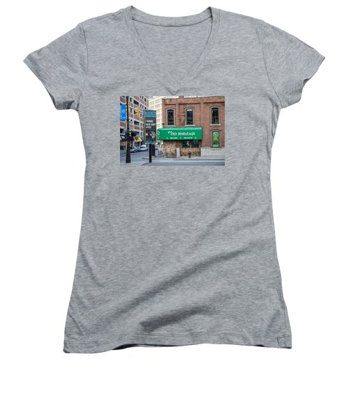 The Old Shillelagh Detroit  Women's V-Neck