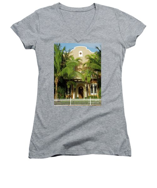 The Old Sunset House. Women's V-Neck (Athletic Fit)