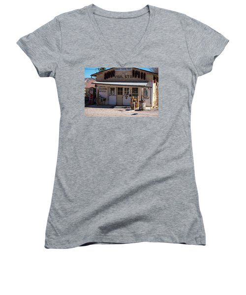 Old Vigil Store In Chimayo Women's V-Neck