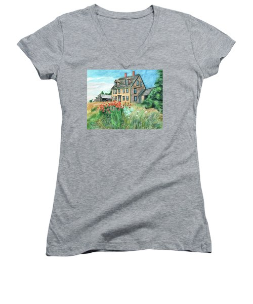 The Olson House With Poppies Women's V-Neck